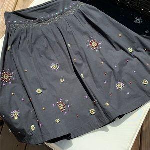 Anthropologie Odille a-line Embellished skirt